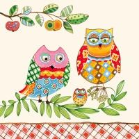 Lunch Servietten Family Owl