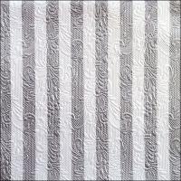 Napkins 33x33 cm - Elegance Stripes Silver