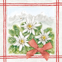 Lunch napkins Edelweiss rot