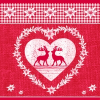 Lunch Servietten DEER LOVE RED