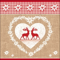 Lunch napkins DEER LOVE NATURE
