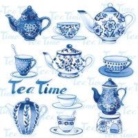 Lunch napkins TEA MOMENTS BLUE