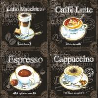 Lunch Servietten TYPES OF COFFEE
