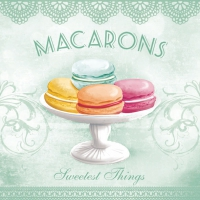 Lunch Servietten MACARONS AQUA