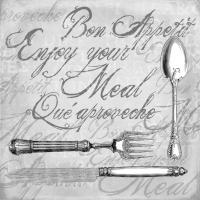Lunch Servietten ENJOY YOUR MEAL GREY