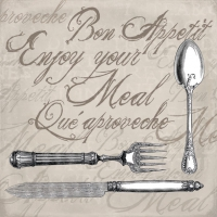 Lunch Servietten ENJOY YOUR MEAL SAND