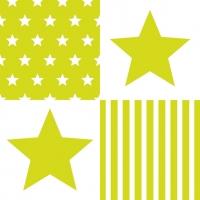 Lunch Servietten STAR STRIPES GREEN