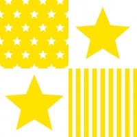 Lunch Servietten STAR STRIPES YELLOW