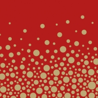 Lunch Servietten Sparkling Dots  Red Gold