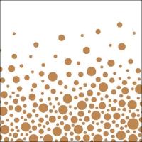 Lunch Servietten Sparkling Dots Bronze
