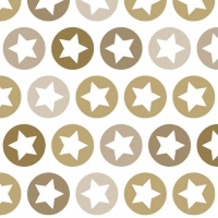Lunch Servietten Shining Stars gold