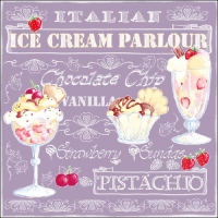Servilletas Lunch Ice Cream Lilac