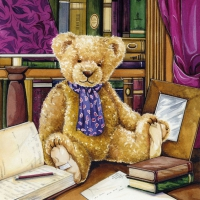 Lunch Servietten Teddy In Library