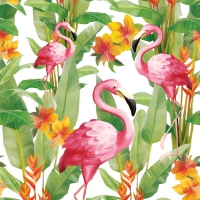 Lunch napkins Flamingo?s White