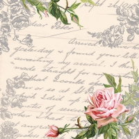 Serviettes de table 33x33 cm - Lettre d´amour