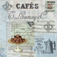 Lunch Servietten Café Collage