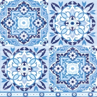 Lunch Servietten Tiles Blue