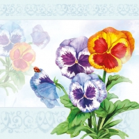 Lunch napkins Aquarell Pansy