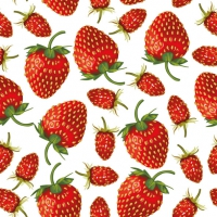 Lunch napkins Strawberries