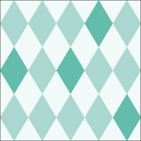 Lunch Servietten Harlequin Aqua