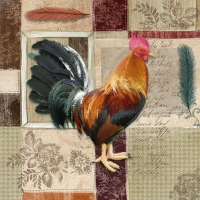 Lunch napkins French Rooster