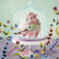 Lunch napkins Cupcake in Glass