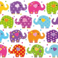 Lunch napkins Funny Elephants