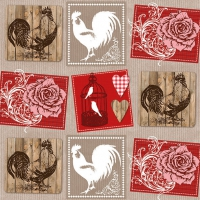 Lunch napkins Roses And Roosters