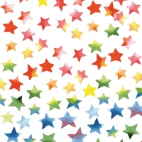 Lunch napkins Colourful Stars Mix