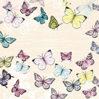 Lunch napkins Butterfly Cream