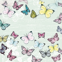 Lunch napkins Butterfly Green