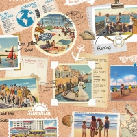 Lunch napkins Vacation Scrapbook