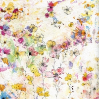 Lunch napkins Splatter Floral