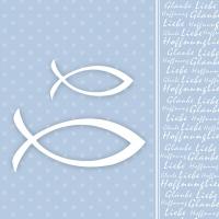 Lunch napkins Glaube Fisch Blue