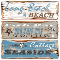 Lunch napkins Beach Signs