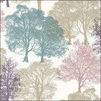 Lunch napkins Skeleton Trees Beige