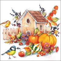 Serviettes lunch Autumn Birdhouse