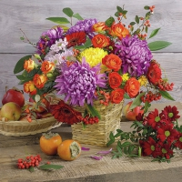 Serviettes lunch Autumn Bouquet