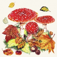 Serviettes lunch Fly Agaric
