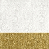 Serviettes lunch Elegance Dip Gold