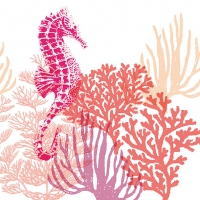 Lunch napkins Coral Red