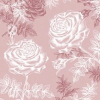 Lunch napkins Etching Roses Rose