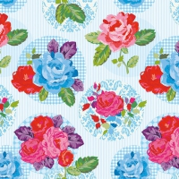 Lunch napkins Modern Rose Blue