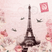 Lunch napkins Letter To Paris