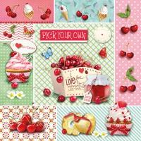 Lunch Servietten Red Cherries