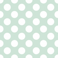 Lunch napkins Big Dots Light Green