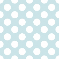 Lunch napkins Big Dots Light Blue