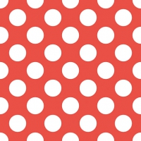 Lunch napkins Big Dots Red
