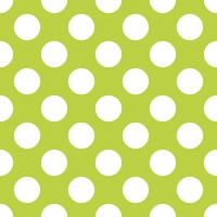 Lunch napkins Big Dots Green