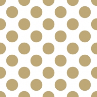 Lunch napkins Big Dots Gold